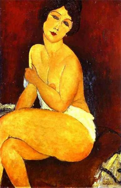 seated nude on divan 1917 XX private collection